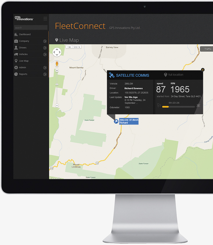 smartTRAX satellite fleet control fleet connect