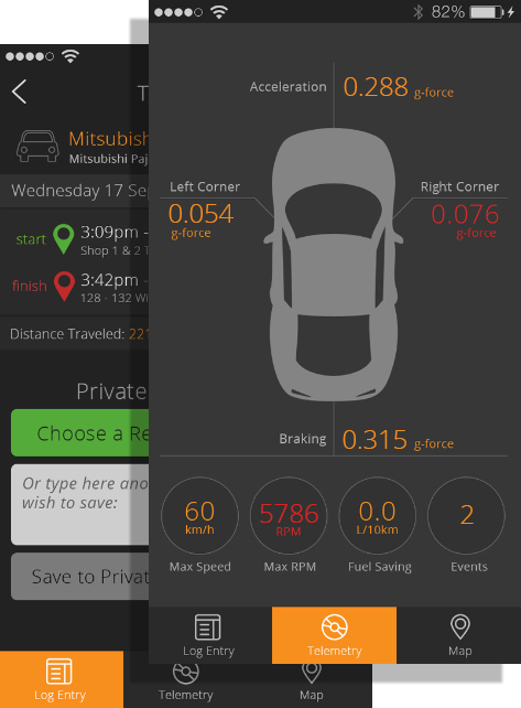 eLogBook iPhone app Logbook for Drivers