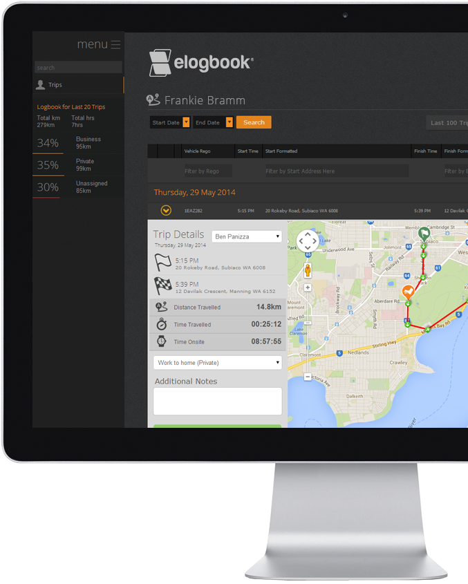 eLogBook Logbook for Drivers by GPS Innovations